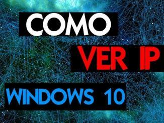 como ver mi ip en windows 10