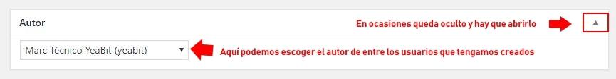cambiar autor wordpress español
