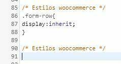 problema estilos formulario woocommerce