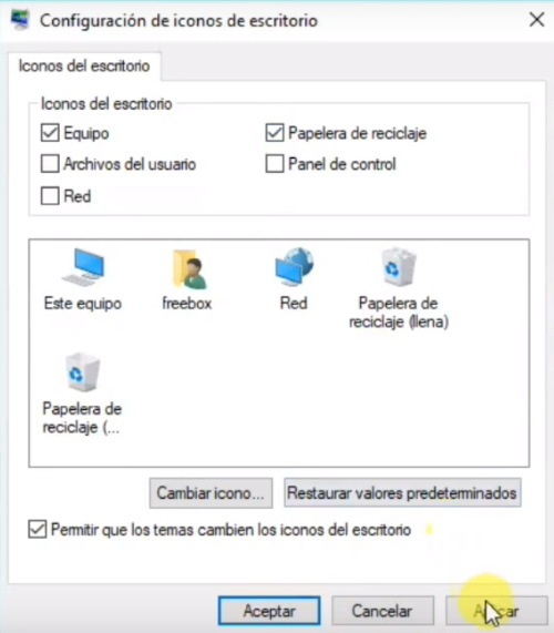 icono papelera windows 10
