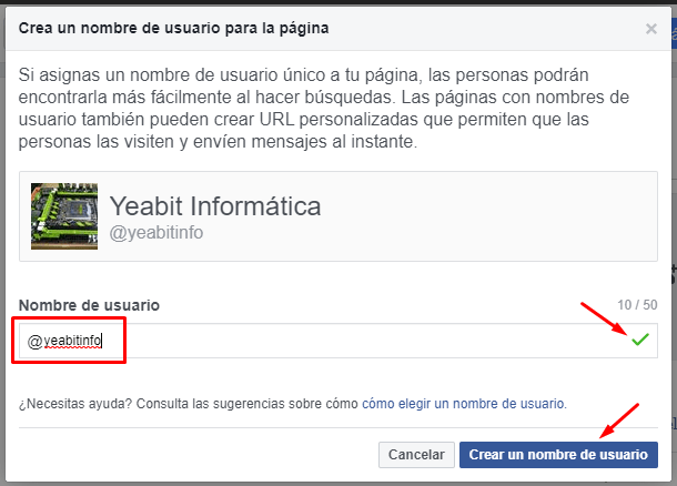 como cambiar nombre pagina facebook 2019
