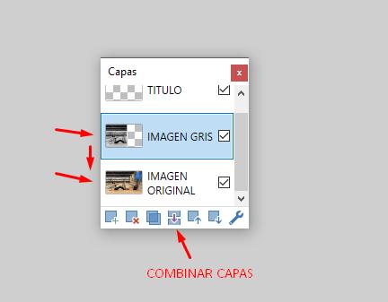 combinar capas hacia abajo paint.net
