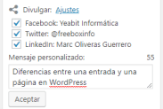 que es mejor entrada o pagina wordpres?