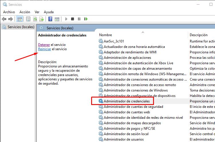eliminar contraseña de unidad de red windows 10