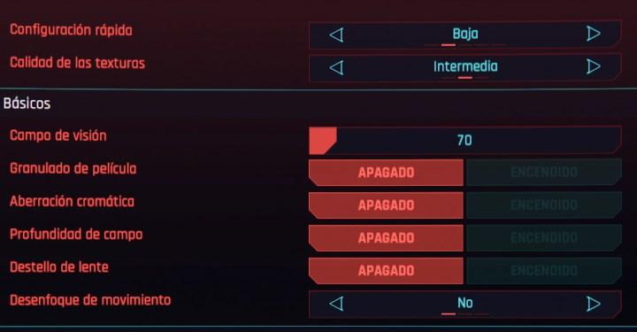 configurar fps cyberpunk 2077