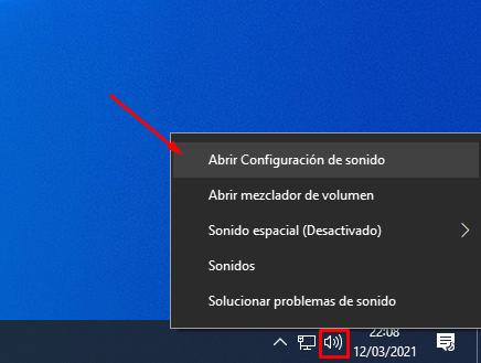 como se sube el sonido en windows 10