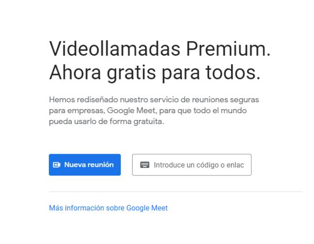 videollamadas gratis google meet