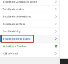 personalizar pie de pagina wordpress