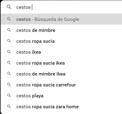 sugerencias de google curso wordpress