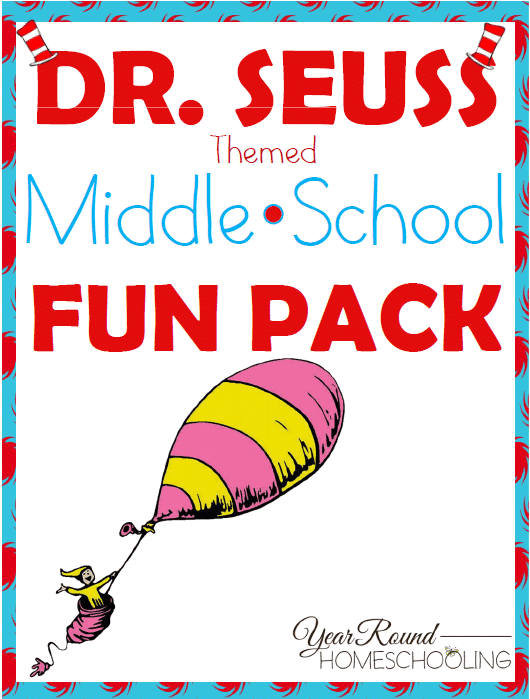 Free Dr. Seuss Fun Pack for Middle Schoolers