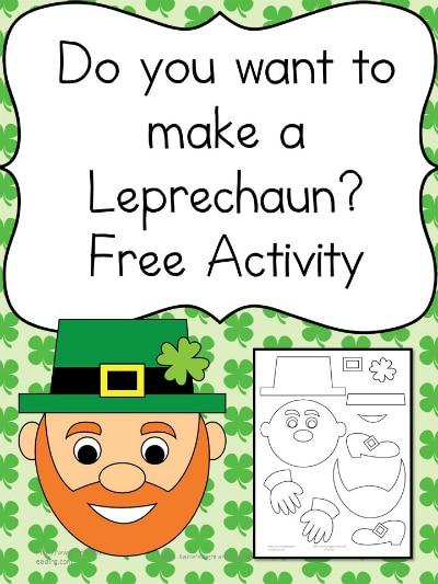FREE Build a Leprechaun Printables   Free Homeschool Deals ©