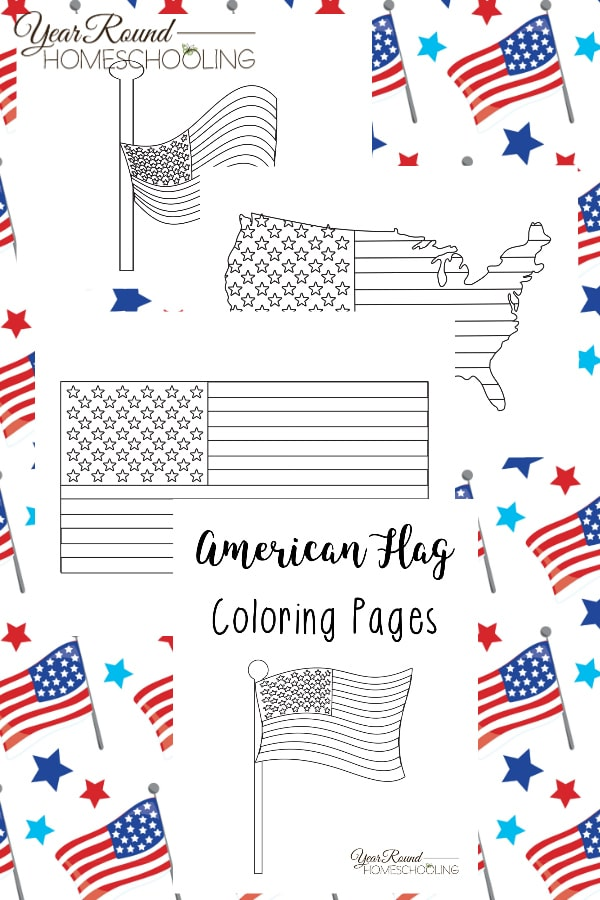 American Flag Coloring Pages Year Round Homeschooling
