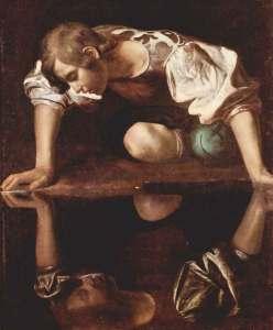 Narziss, Ölgemälde von Caravaggio