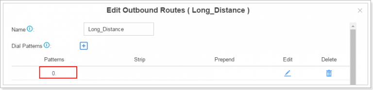 outbound route in S-Series IPPBX