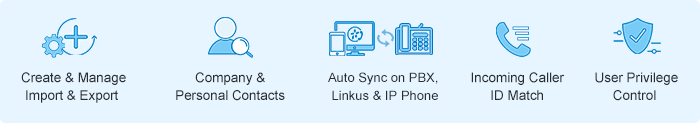 Yeastar PBX native Contacts feature benefits