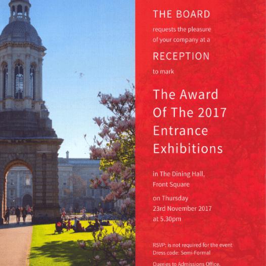 Trinity Entrance Exhibition Awards 2017