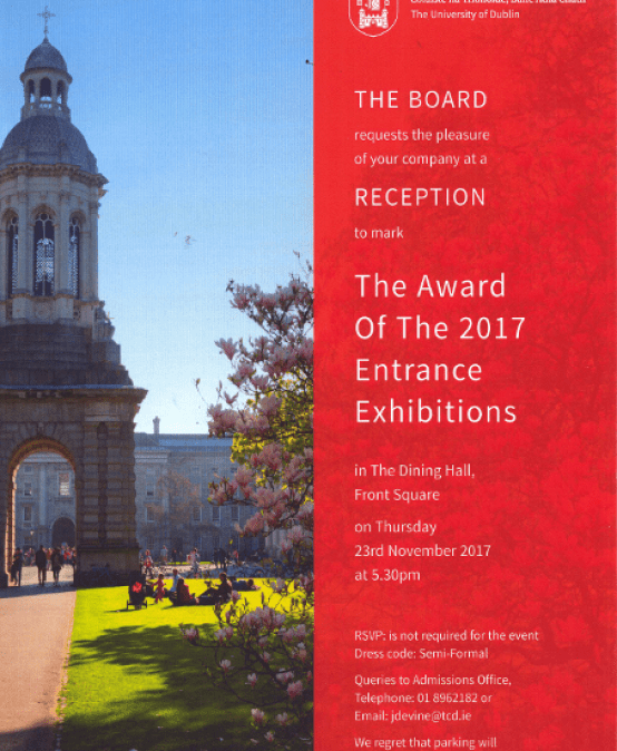 Trinity Entrance Exhibition Awards 2017