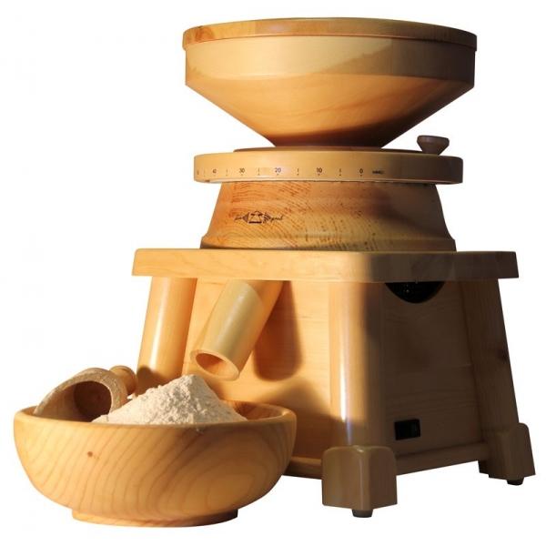 moulin a grain bois