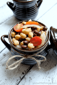 Balsamic Chickpea & Black Bean Salad