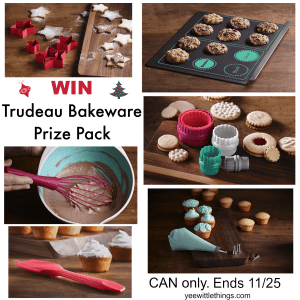 Holiday Baking with Trudeau & GIVEAWAY