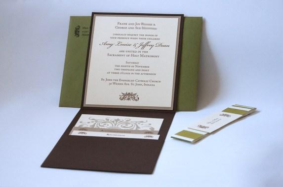 Elegant Autumn Wedding Invitations