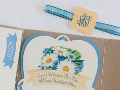 Watercolor & Lace Wedding Invitation detail, designed by Abigail McMurray