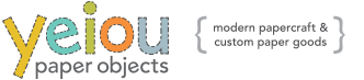 yeiou {paper objects} Logo