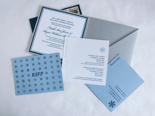 Winter Wonderland Invitations - Enclosure cards