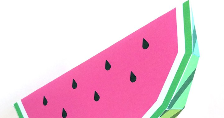 Free Papercraft Watermelon by Mr. Printables