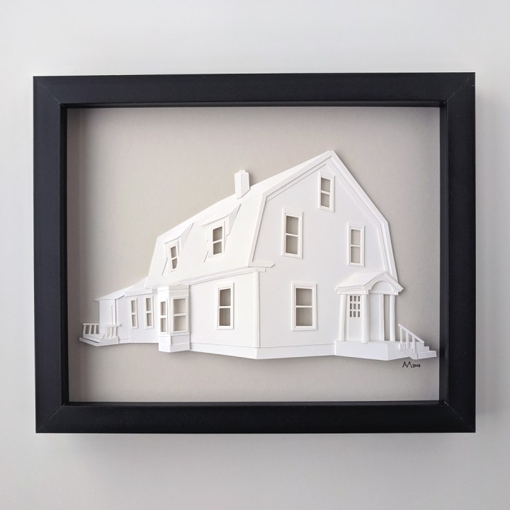 Completed custom architectural portrait