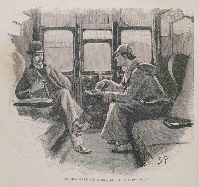 שרלוק הולמס וווטסון בקרון רכבת