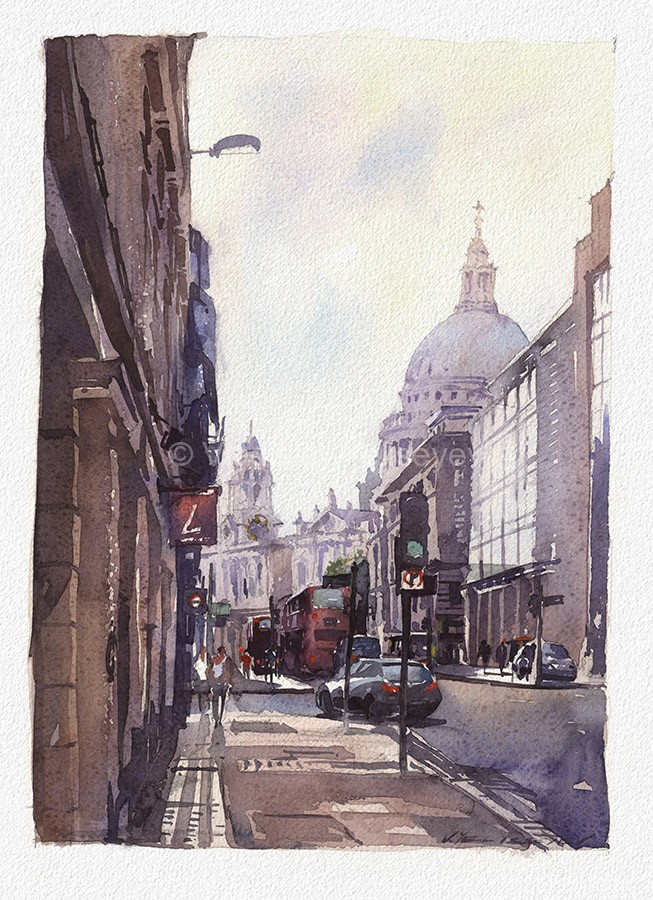 Urban Paintings Watercolor Artworks By Artist Vladislav
