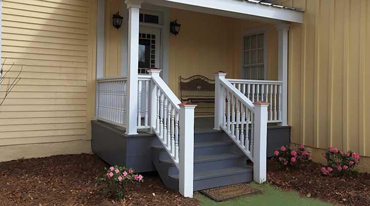 Deck Accessories Yellawood | Pressure Treated Stair Handrail | Sturdy | Step | Deck Rail | Long Deck | Treated Lumber