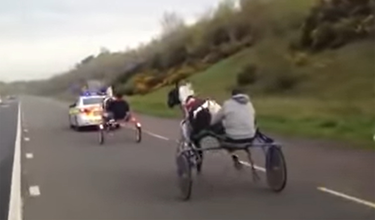 Police break up pony and trap racing on major roads
