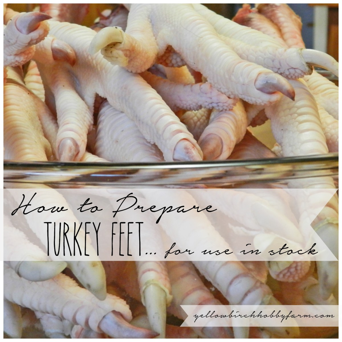 How to Prepare Turkey Feet for Use in Stock