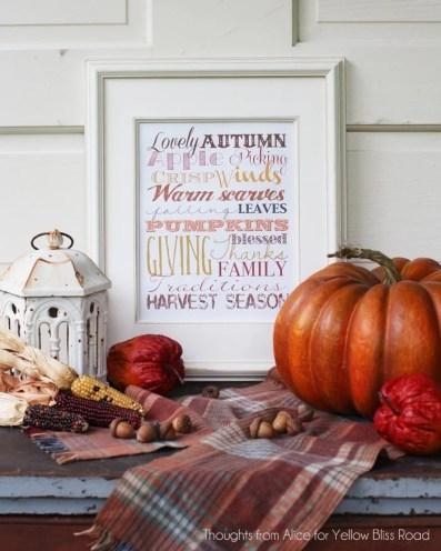 Autumn Season Free Printable Subway Art