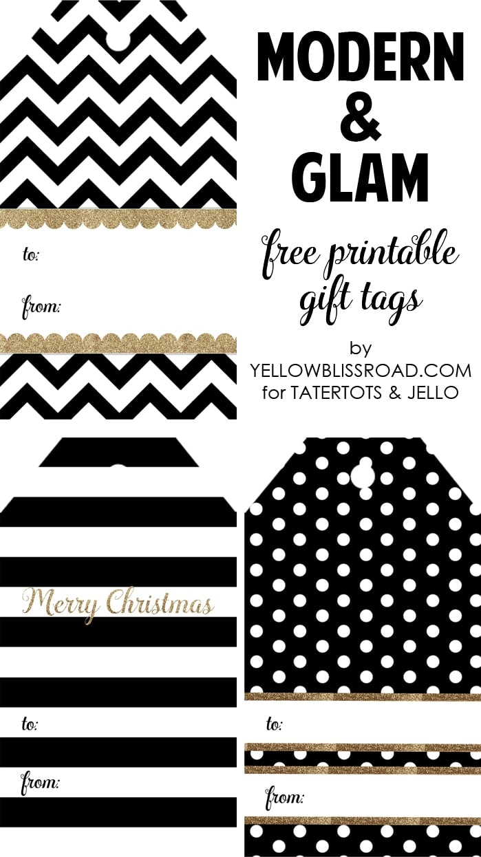 HAPPY Holidays: Modern Printable Gift Tag Set - Tatertots and Jello