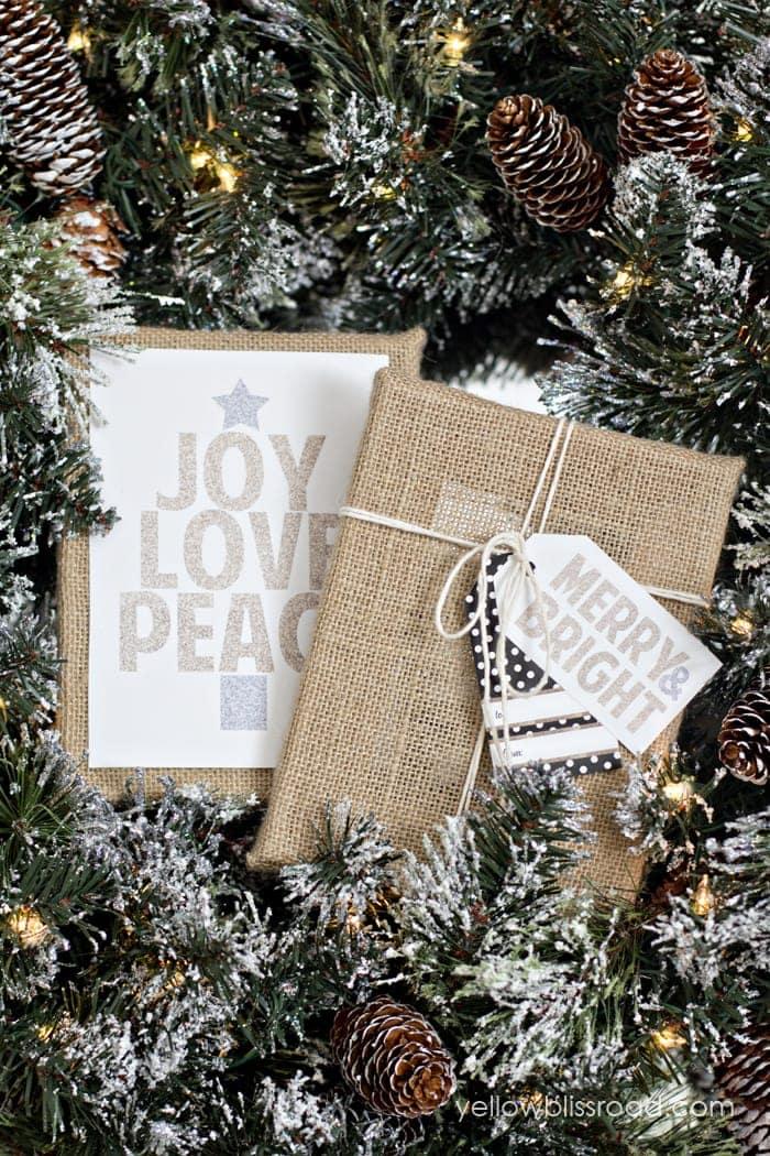 Christmas Printables Glittery