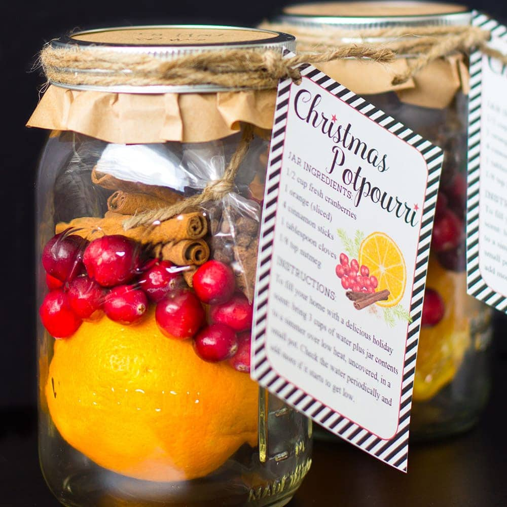 DIY Christmas Gifts Christmas Potpourri In A Jar Free