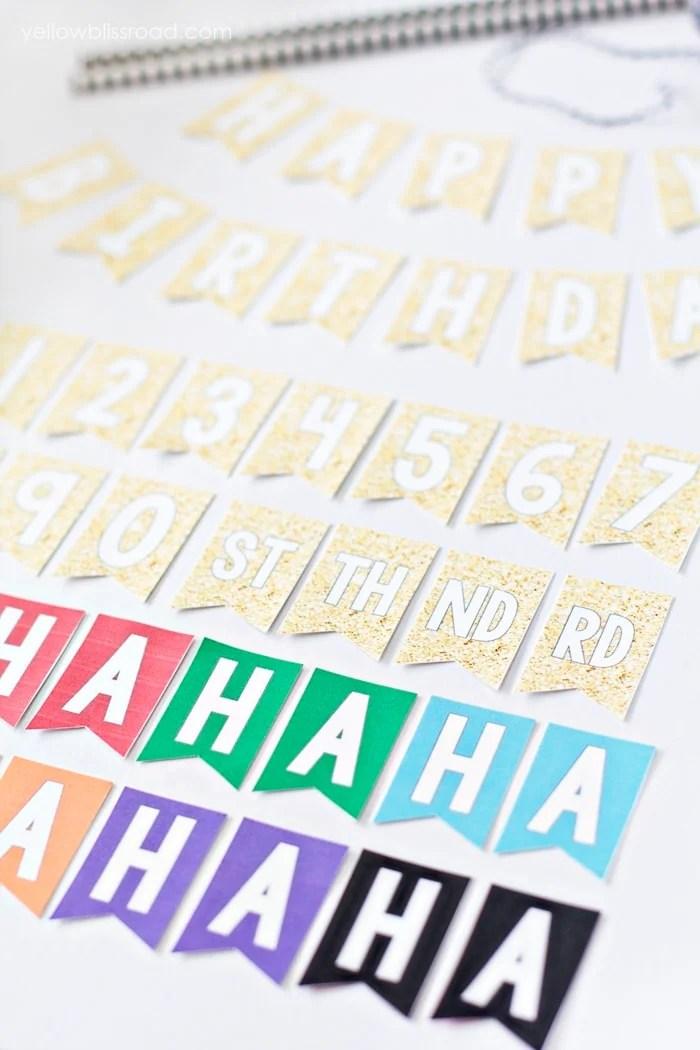 Free Printable Birthday Mini Bunting