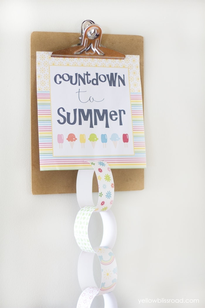 Clipboard Countdown to Summer