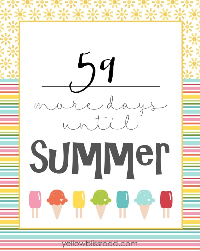 Free Countdown To Summer Printable -- Tatertots And Jello