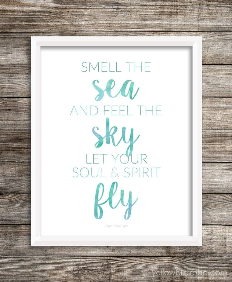 Beach Printable Quote with White Background