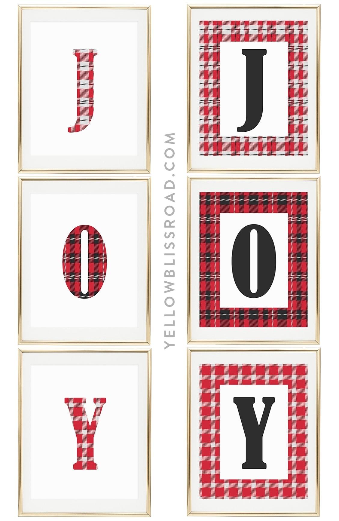 Joy Free Printables For Christmas