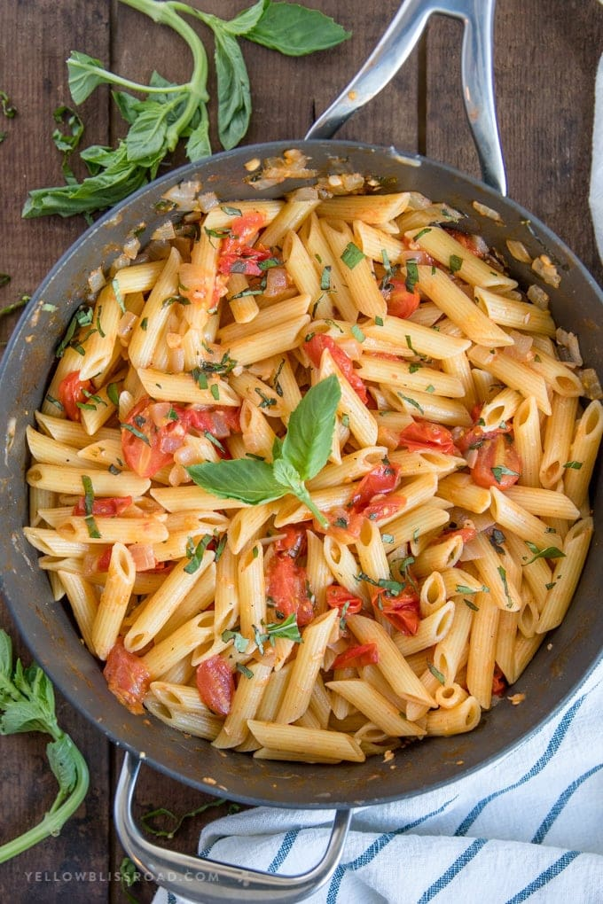 Tomato Basil Pasta Easy Penne Pasta Recipe For Lunch Or