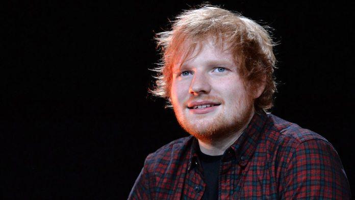 Şarkıcı, söz yazarı Ed Sheeran