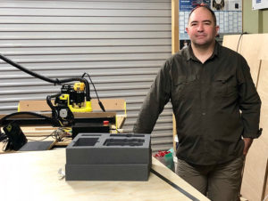 Photo of John with his XCarve CNC Routing machine