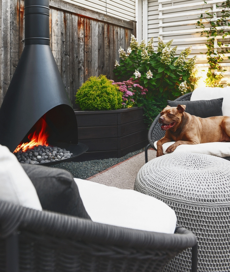 our outdoor fireplace farewell propane