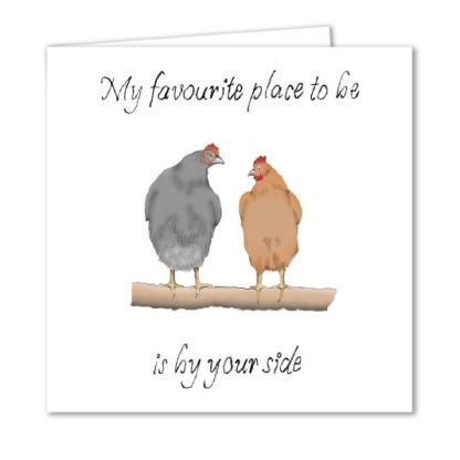 Chicken Valentines Card
