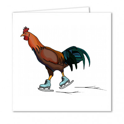 Ice Skating Rooster
